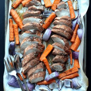 Moroccan Pork Tenderloin & Carrots