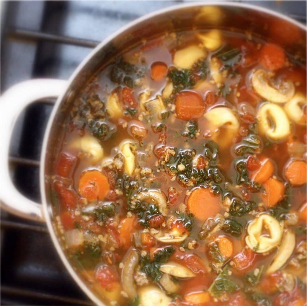 Sausage, Kale & Tortellini Soup