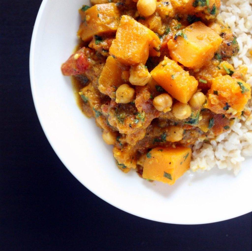 Slow Cooker Butternut Squash and Chickpea Curry