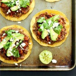 Leftover Pulled Pork Tostadas
