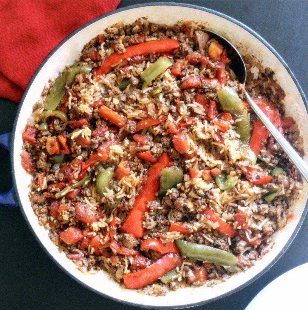 One Pan UnStuffed Peppers