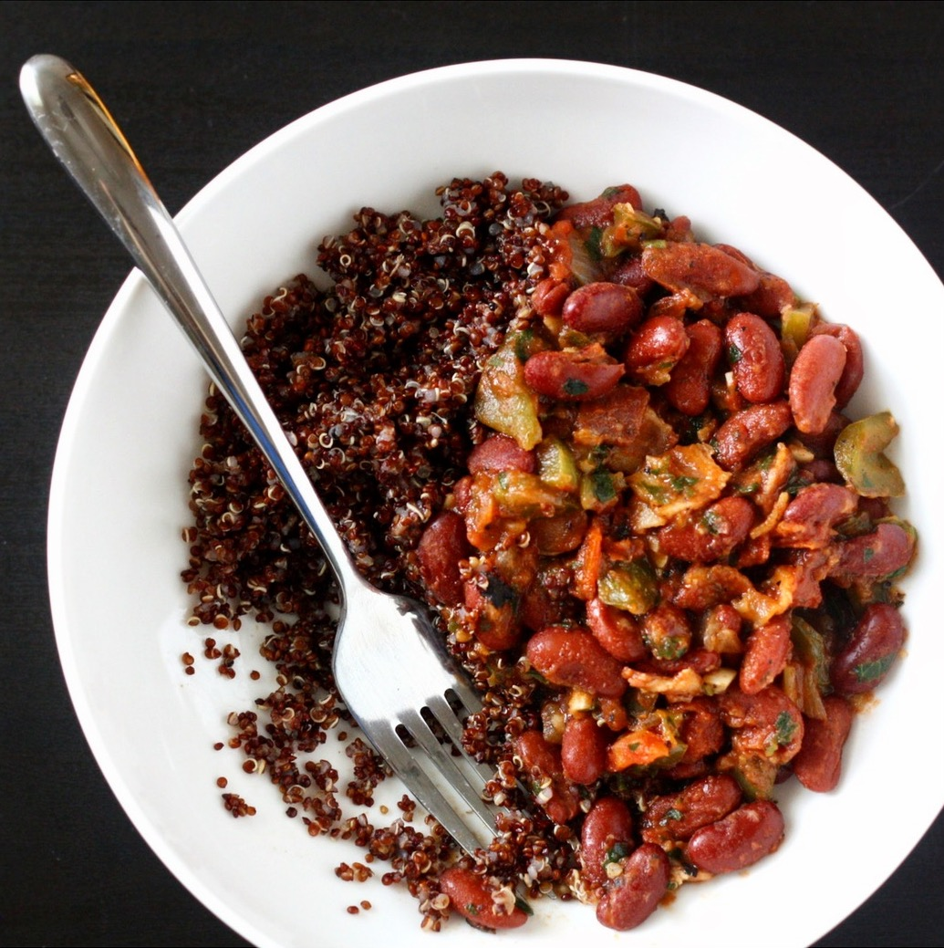 Cajun Red Beans and Rice with Quinoa