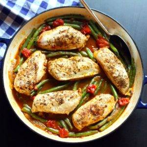 Greek Chicken and Green Bean Skillet