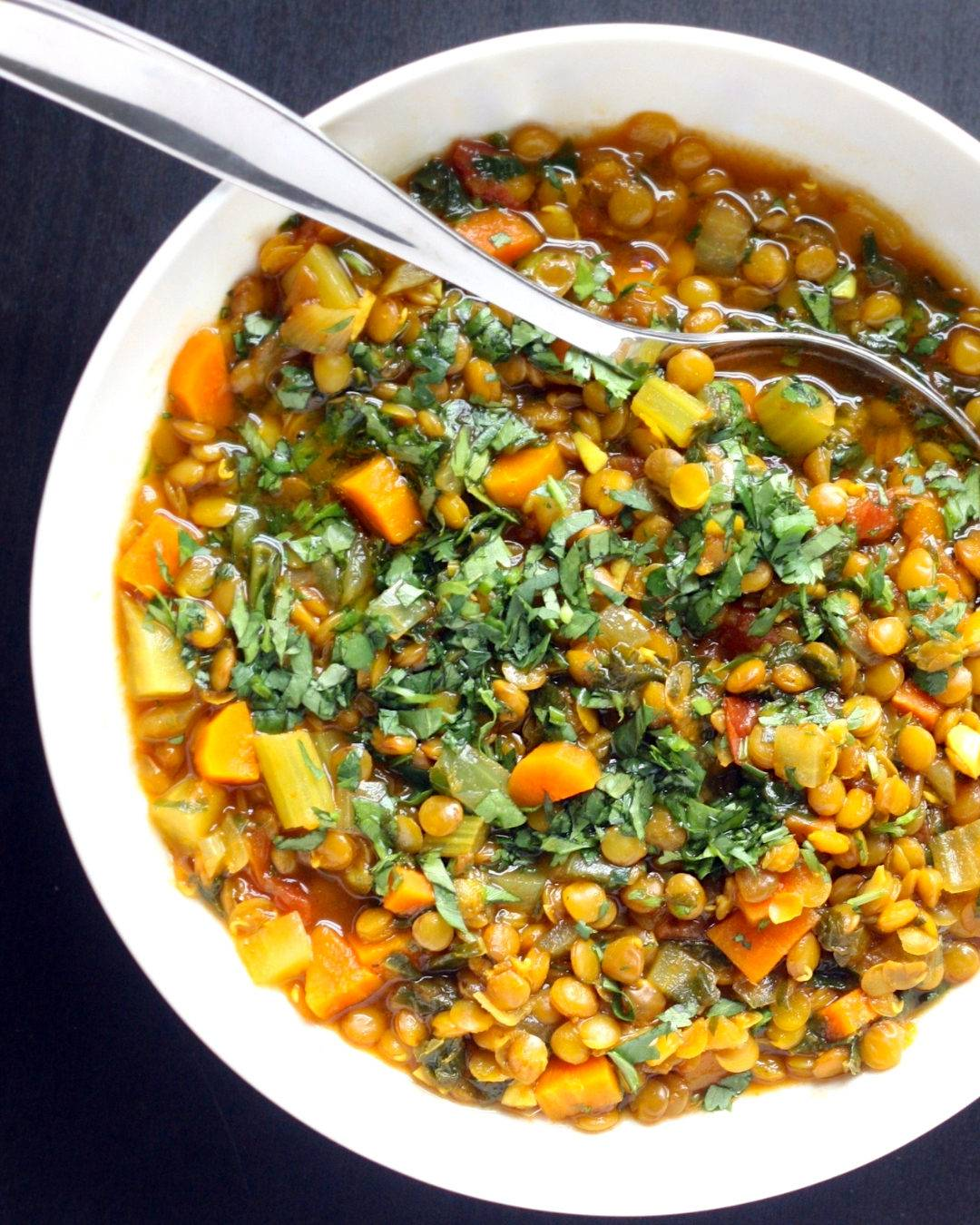 Turmeric Lentil and Greens Soup