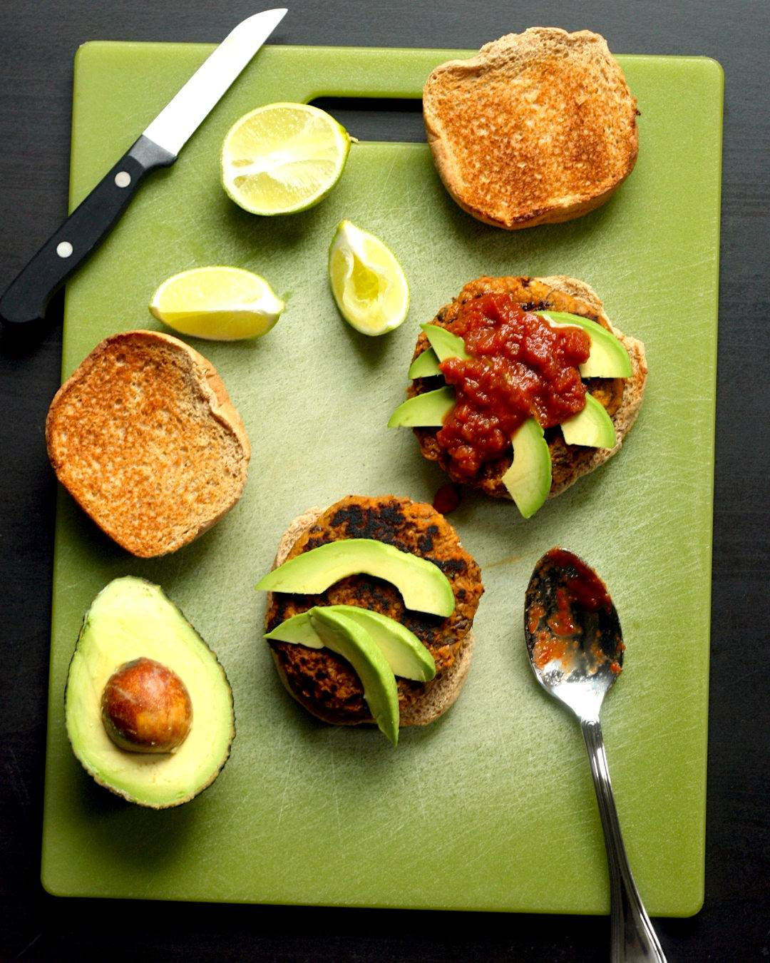 Black Bean Sweet Potato Burgers