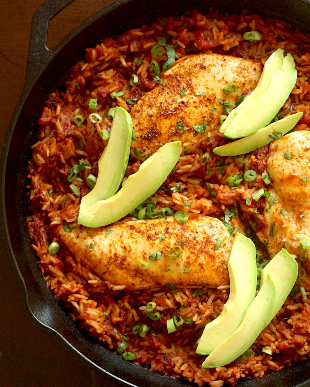 One Pan Salsa Chicken and Rice