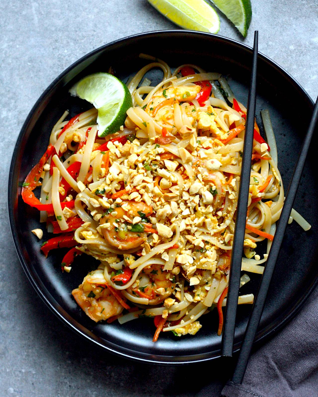 Simple Shrimp Pad Thai