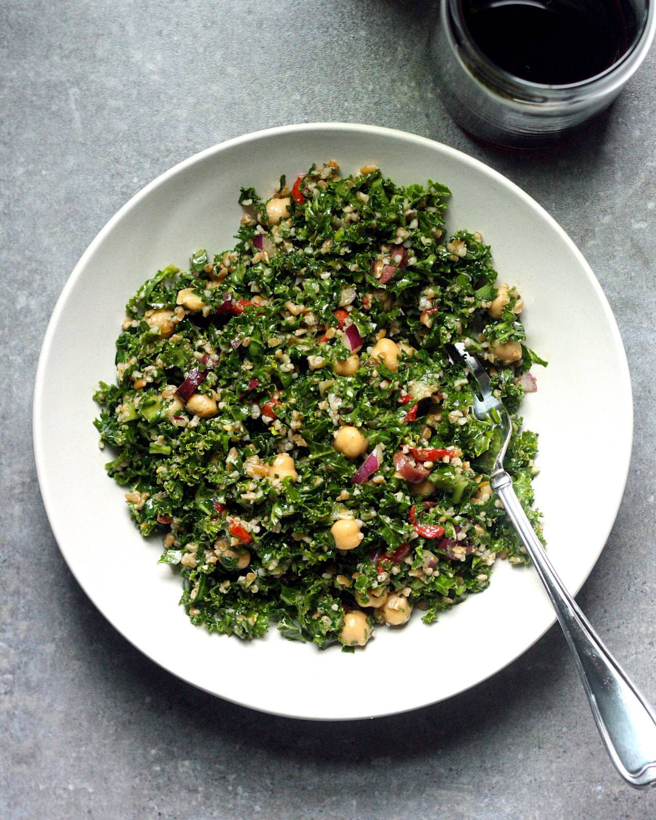 Winter tabbouleh with zaatar vinaigrette