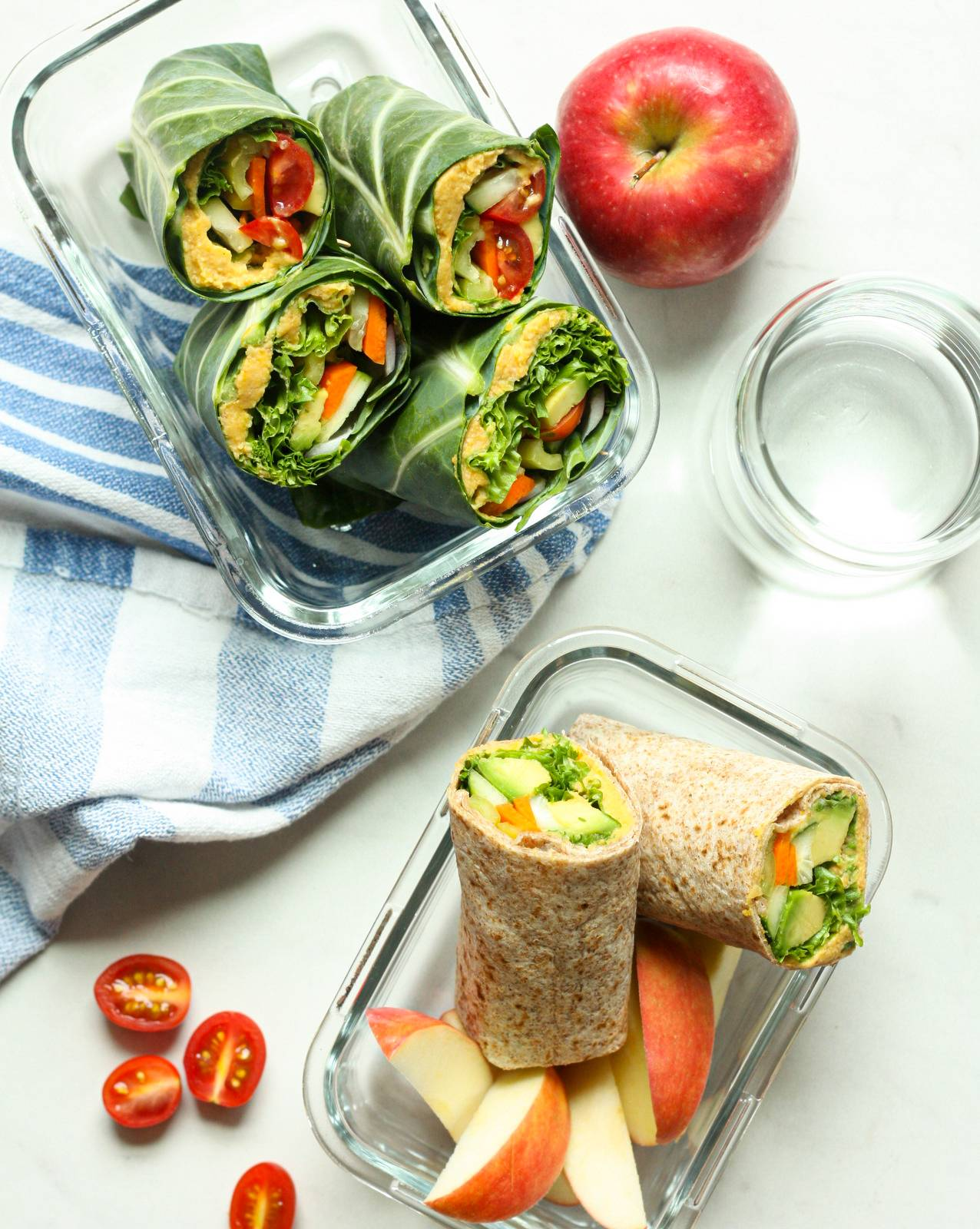Crunchy Veg Wrap with Butternut Squash Hummus
