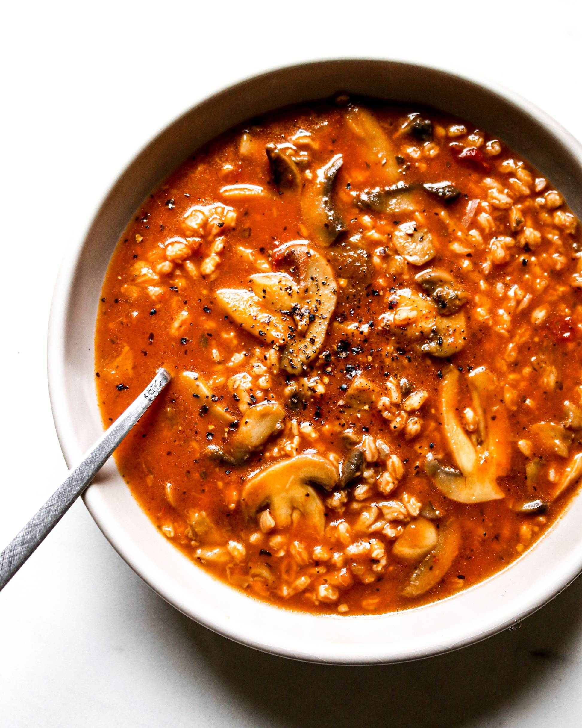 Trader Joe's 4-Ingredient Mushroom Medley Farro Soup